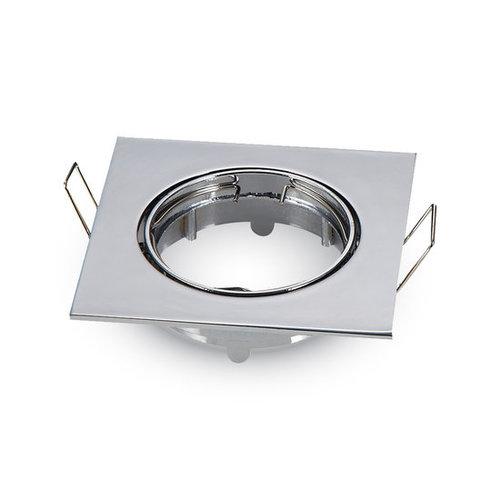 V-tac Inbouw spot verstelbaar 50mm vierkant chroom