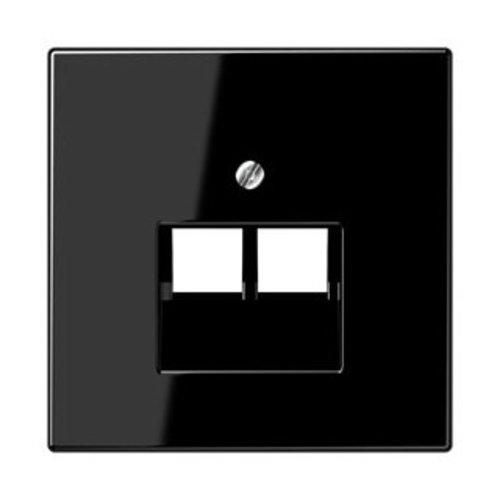 Jung Jung LS range afdekking 2-voudig voor data, uae zwart - LS969-2UASW