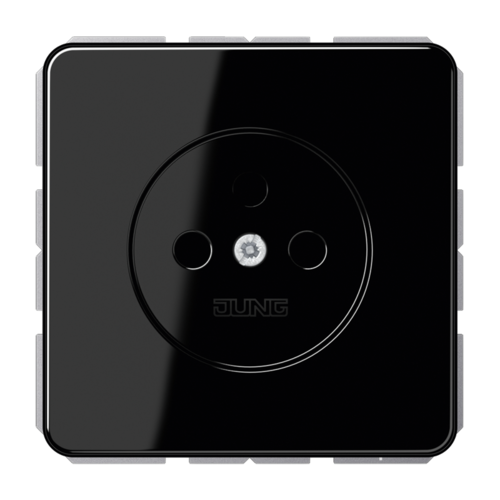 Jung Jung CD500 wandcontactdoos zonder randaarde zwart - CD511NSW