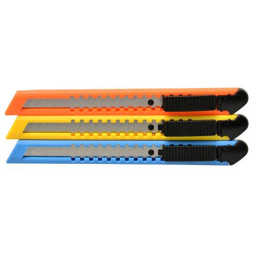 MVC Tools Blister 3x afbreekmesjes 9mm BL/GL/OR