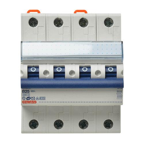 Gewiss Gewiss MCB installatieautomaat B karakteristiek 32a 4P krachtgroep - GW92290