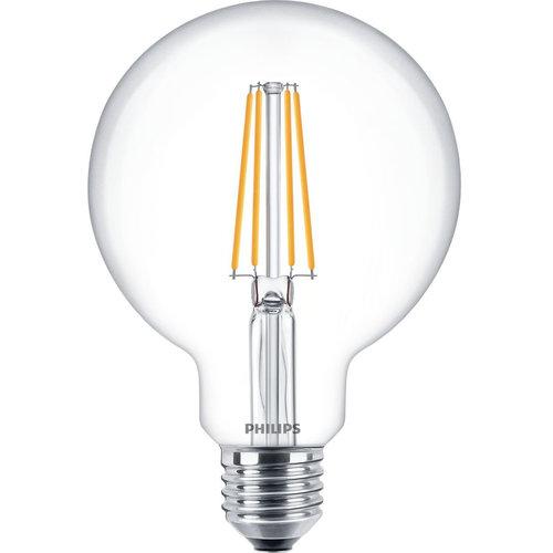 Philips Philips Classic led led-lamp e27 7,2W bol 827 2700K 806LM dimbaar - 77335900