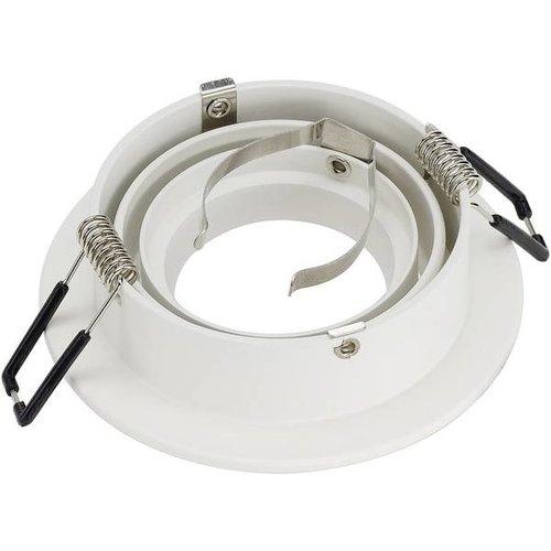 SLV SLV inbouwspot rond kantelbaar wit Ø93mm (113510)