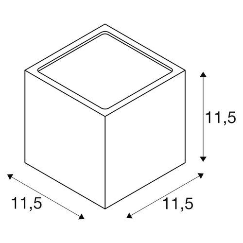 SLV SLV Sitra armatuur GX53 compactfluorescentielamp 115MM ip44 - 232535