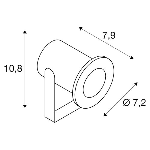 SLV SLV Dasar tuinverlichtingsarmatuur buiten spot led grondpen met lichtbron - 233570