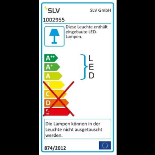 SLV SLV Flatt armatuur led 3000-4000K 16W 600LM 80MM ip65 - 1002955