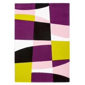 DF0062012-43 Noir / Violet Tapis