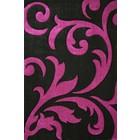 DF0062012-273 Zwart / Paars Vloerkleed