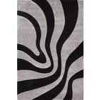 DF0062012-277 Zwart / Zilver Vloerkleed