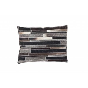 DF0062012-864 Brown / Gray Colorful Leather Ornamental Cushions
