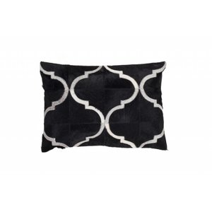 DF0062012-865 Black Colorful Leather Ornamental Cushion