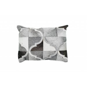 DF0062012-866 Gray Colorful Leather Ornamental Cushions
