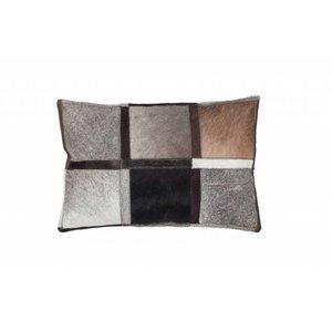 DF0062012-867 de couleur grise Coussin en cuir