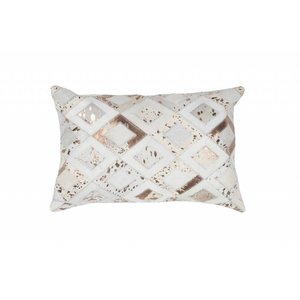 DF0062012-868 Ivory / Chrome Colorful Leather Ornamental Cushions