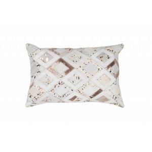 DF0062012-868 Ivory / Chrome Colorful Leather Ornamental Cushions