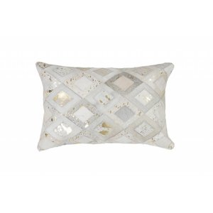 DF0062012-869 Ivory / Gold Colorful Leather Ornamental Cushions