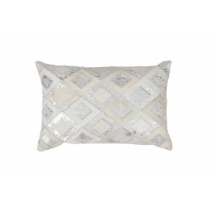 DF0062012-870 Gray / Silver Colorful Leather Ornamental Cushions