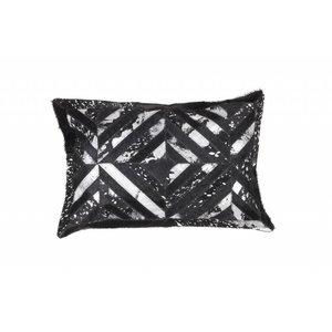 DF0062012-875 Noir / Argent Coussin en cuir de couleur