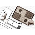 DF0062012-410 Bruin Vloerkleed