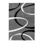 DF0062012-505 Zilver / Zwart Vloerkleed