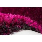 DF0062012-579 Paars / Zwart Vloerkleed