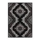 DF0062012-604 Zwart Vloerkleed