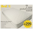 Bed2U 140 x 200 High quality 7 zone pocket spring mattress