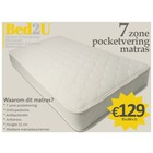 Bed2U 70 x 200 Top quality 7 zone pocket spring mattress