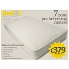Bed2U 180 x 200 High quality 7 zone pocket spring mattress