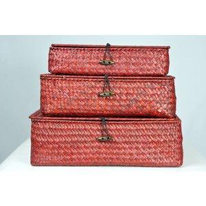 Clayre & Eef Boîtes Rouge