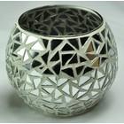 Amadeo Home Decor White Mosaic Waxinelichthouder