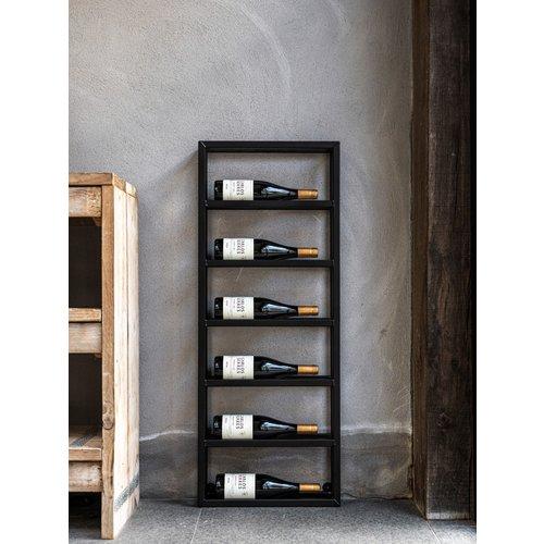 Staalo Wijnrek staal 6 flessen