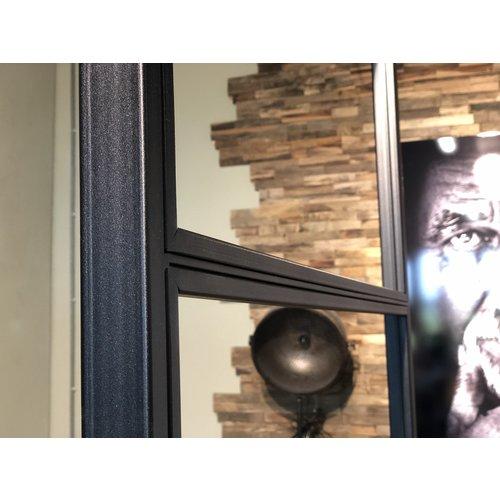 Stalen taatsdeur met smal vast paneel model 3-vlaks  2315x1290