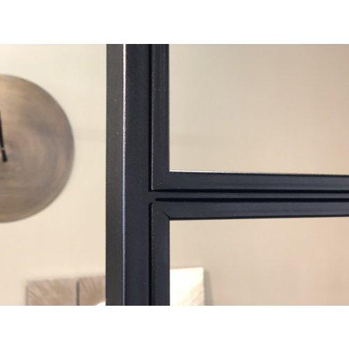 Enkele stalen taatsdeur met 2 zijlichten - 2580x1740mm