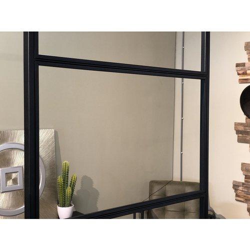 Dubbele stalen taatsdeuren met 2 zijlichten - 2580x3485mm