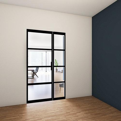 Enkele stalen taatsdeur met zijlicht - 2315x1285mm
