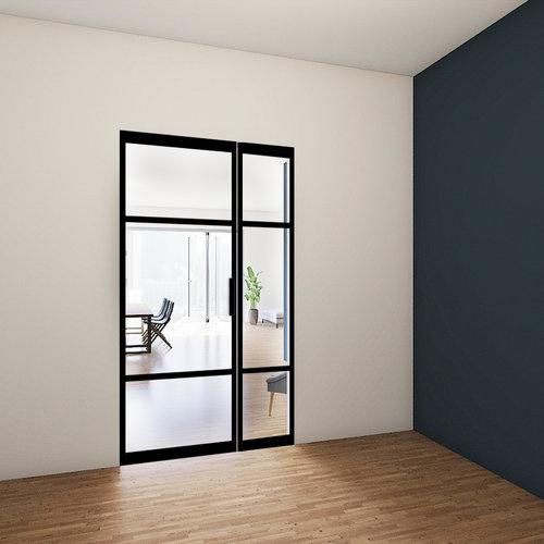 Enkele stalen taatsdeur met zijlicht - 2315x1385mm