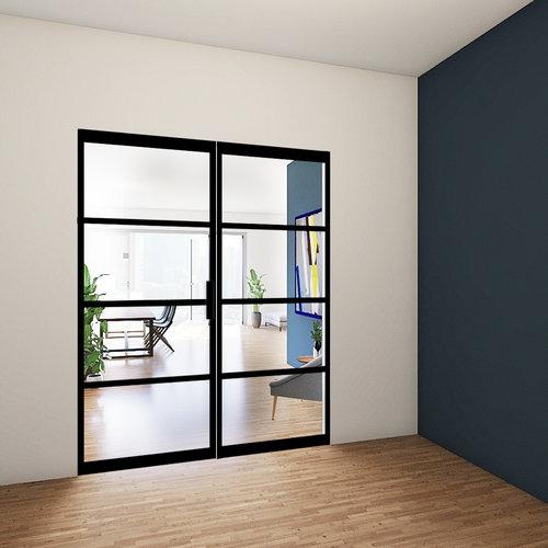 Enkele stalen taatsdeur met zijlicht - 2580x1845mm