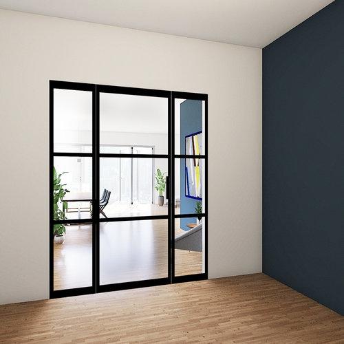 Enkele taatsdeur met 2 zijlichten - 2580x1740mm