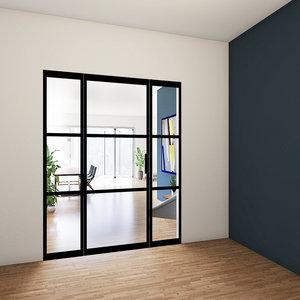Enkele taatsdeur met 2 zijlichten - 2315x1840mm