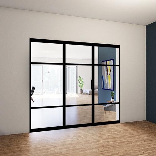 Enkele taatsdeur met 2 zijlichten - 2580x2660mm