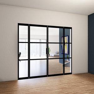 Dubbele taatsdeuren met 2 zijlichten - 2580x2565mm