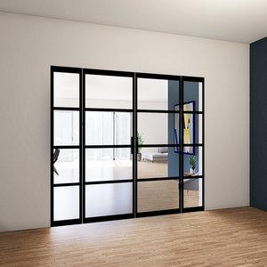 Dubbele taatsdeuren met 2 zijlichten - 2315x2765mm