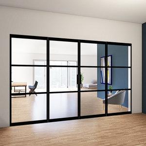 Dubbele taatsdeuren met 2 zijlichten - 2580x3685mm
