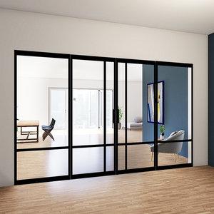 Dubbele taatsdeuren met 2 zijlichten - 2315x3685mm