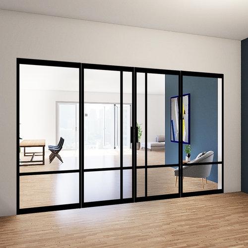 Dubbele stalen taatsdeuren met 2 zijlichten - 2315x3485mm