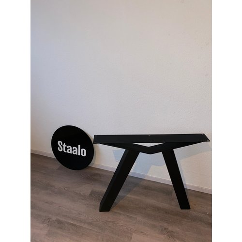 Staalo Tafelpoot Brug Variant - Zwart
