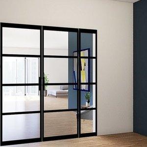 Dubbele taatsdeuren met 1 zijlicht - 2580x2110mm