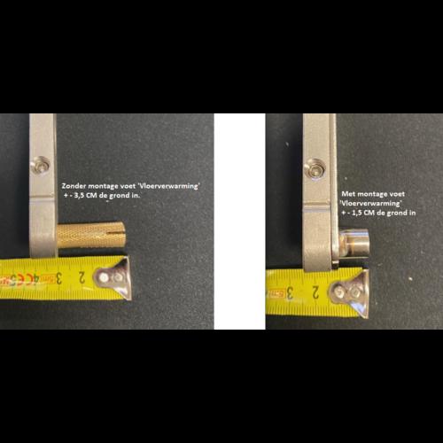 Enkele stalen taatsdeur met 2 zijlichten - 2580x2660mm