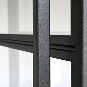 Staalo Enkele paumelle deur met 2 zijlichten- 2580x1840mm